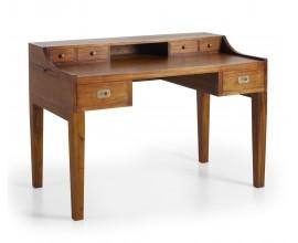 Luxusný masívny písací stôl so zásuvkami a dvomi výsuvnými doskami  Star