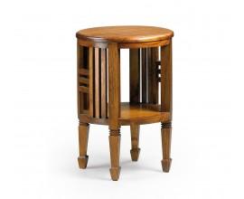 Masívny luxusný kruhový príručný stolík Star s úložným priestorom 66cm