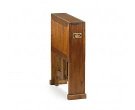 Drevený skladací príručný stolík Star hnedej farby 90cm