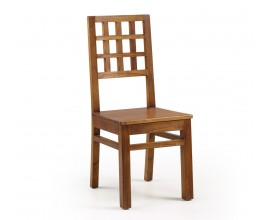 Dizajnová drevená jedálenská stolička Star z masívu 100cm