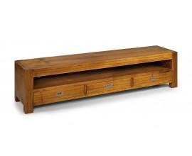 Dizajnový drevený TV stolík z masívneho dreva Star s tromi zásuvkami 190cm