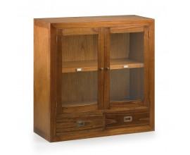 Luxusná vitrína Star z dreva a skla s dvomi zásuvkami 90cm