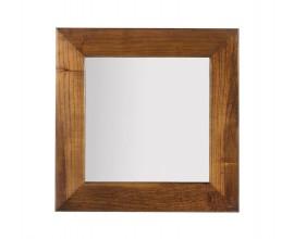 Luxusné štvorcové závesné zrkadlo Star s dreveným rámom 80cm