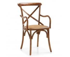 Masívna elegantná stolička Star s opierkami a čalúnením 90cm
