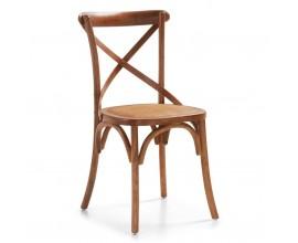 Klasická drevená stolička Star z masívneho dreva s čalúnením 86cm