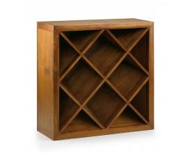 Klasická drevená vinotéka Star z masívu 90cm