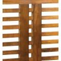 Koloniálne nadčasové hnedé čelo postele Star z kavlitného masívneho dreva mindi 200cm