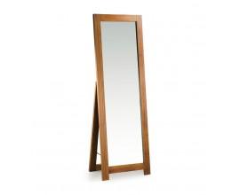 Koloniálne luxusné stojace zrkadlo Star z masívneho dreva mindi 160cm
