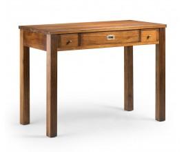 Koloniálny písací stolík Star z masívneho dreva mindi s tromi zásuvkami 110cm