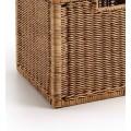 Vidiecky štýlový košík Rattan z prírodného materiálu v hnedej farbe 38cm