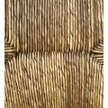 Vidiecke štýlové kreslo Rattan z masívneho dreva hnedej farby  75cm