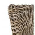 Koloniálna stolička Rattan v prírodnej farbe z ratanu a masívneho dreva mindi 100cm