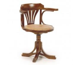 Luxusná stolička otáčacia kombinovaná s kožou RATTAN