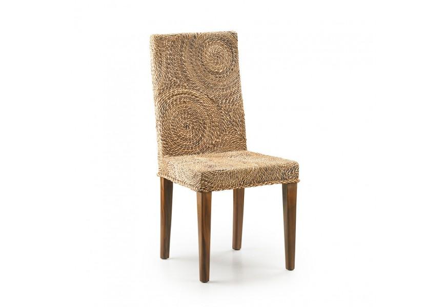 Luxusná rattanová stolička s banánovými kruhmi RATTAN s vysokým operadlom
