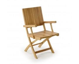 Dizajnová stolička z teakového dreva
