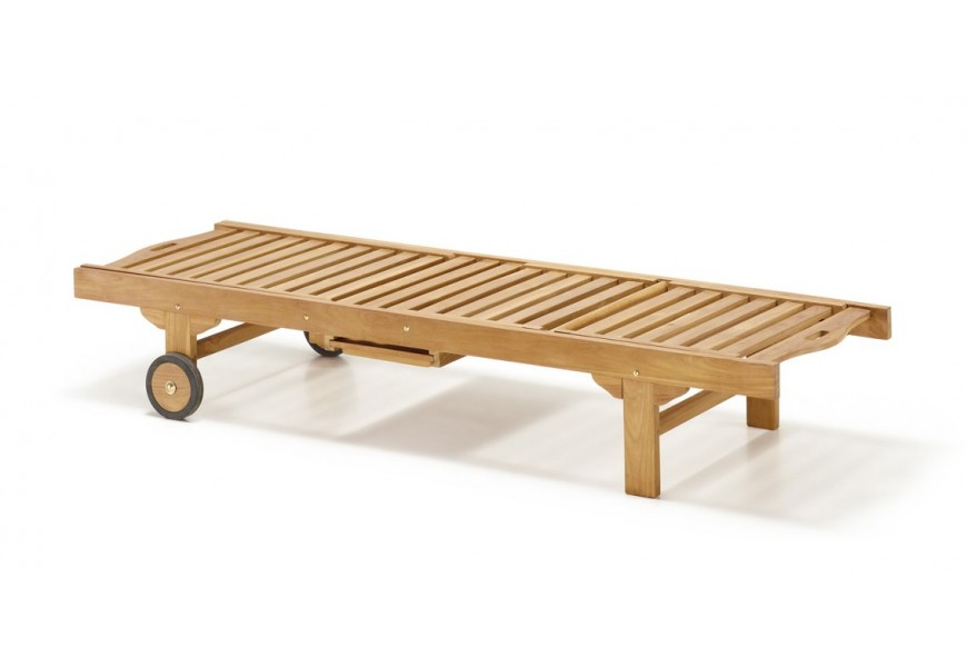 Štýlové lehátko z dreva Jardin