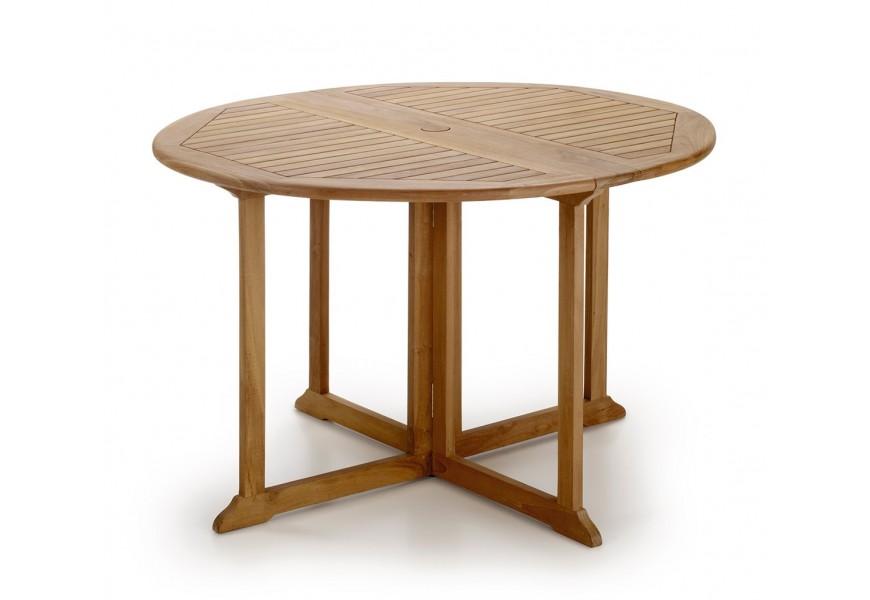 Skladací záhradný stôl z teakového dreva okrúhly Jardin