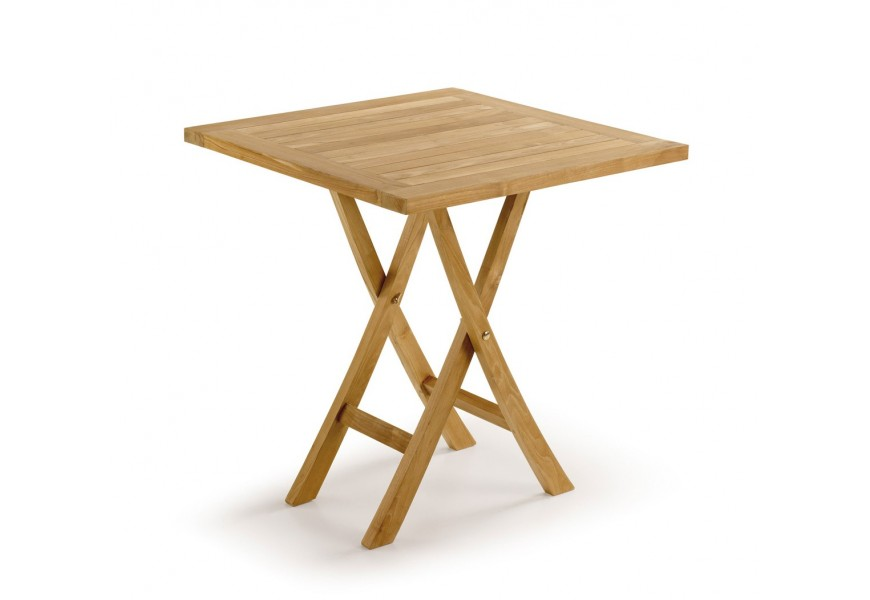 Štýlový záhradný stolík štvorcový z teakového dreva Jardin