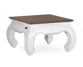 Koloniálny luxusný konferenčný stolík BLANC v bielej farbe 60cm