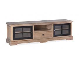 Vidiecky luxusný TV stolík Siena z masívneho dreva mindi