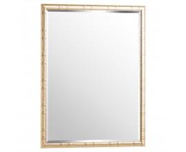 Art-deco dizajnové nástenné zrkadlo Trasulfa so zlatým rámom 120cm