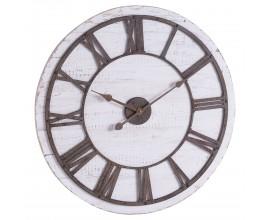 Industriálne nástenné hodiny Portada z dreva a kovu 68cm