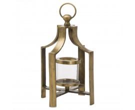 Vidiecky lampáš Farrol v antickej mosadznej farbe z kovu 40cm