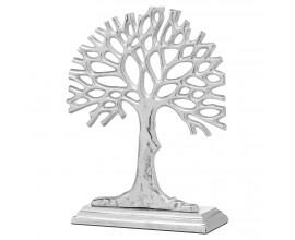 Moderná vkusná soška Carvajo striebornej farby v tvare stromu 34cm