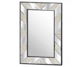 Art-deco luxusné veľké nástenné zrkadlo Farian v hrubom ráme130cm