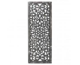 Orientálne vysoké závesné zrkadlo Veidosa v sivo-striebornej farbe 152cm