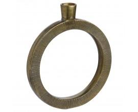 Orientálna mosadzná váza Rueda I v tvare kruhu 49cm