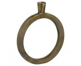 Orientálna dekoratívna kruhová mosadzná váza Rueda II z kovu