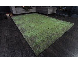 Štýlový vintage koberec Andie II so zeleným orientálnym vzorom