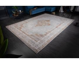 Orientálny sivo-hnedý vzorovaný koberec Caubbar II s vintage efektom 350cm