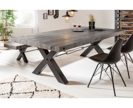 Industriálny jedálenský stôl Freyja z masívneho dreva a kovu 200cm