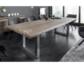 Industriálny masívny jedálenský stôl Hege z akáciového dreva s kovovou konštrukciou 200cm
