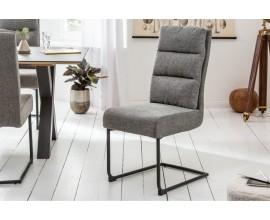Štýlová moderná kancelárska stolička Gallami v sivej farbe s čalúneným operadlom a kovovou konštrukciou