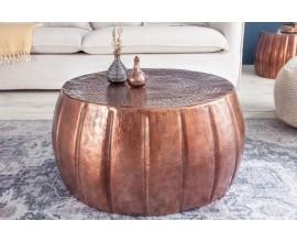 Orientálny kruhový konferenčný stolík Adassil bronzovej farby 65cm
