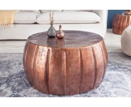 Orientály kruhový konferenčný stolík Adassil bronzovej farby 65cm