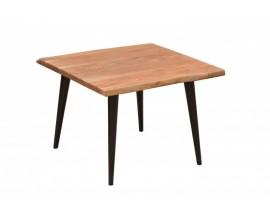 Moderný štvorcový príručný stolík Tacoma z masívu a kovu 60cm