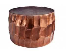 Moderný kruhový konferenčný stolík Siliguri v medenom odtieni 68cm
