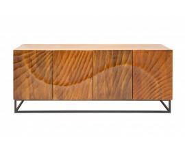 Masívna moderná komoda Cumbria z mangového dreva s prírodným vzhľadom 177cm