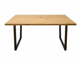 Moderný hranatý jedálenský stôl Garret s čiernymi nohami 140cm