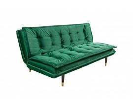 Dizajnová rozkladacia smaragdovo zelená sedačka Baxelat s nožičkami 184cm