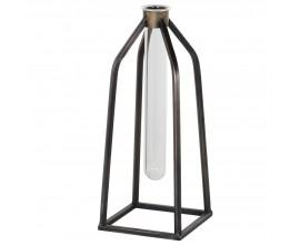 Industriálna sklenená váza Tobel v tvare skúmavky 26cm