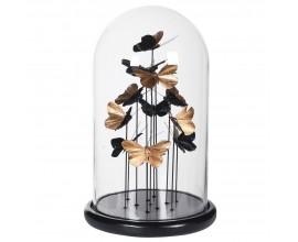 Dizajnová dekoračná kupola so štýlovými motýľmi zlatej farby