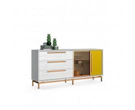 Luxusná moderná komoda Estoril z masivneho dreva s nohami 193cm
