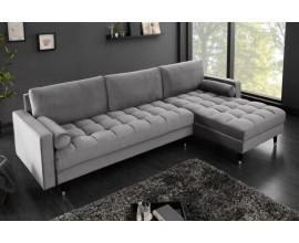 Luxusná moderná rohová sedačka Velluto sivá 260cm