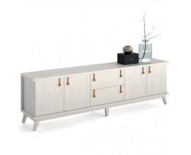Luxusný TV stolík Sajonia na nožičkách so zásuvkami a dvierkami  224cm