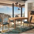 Luxusná jedálenská stolička Luxor z masívu a s čalúnením 94cm